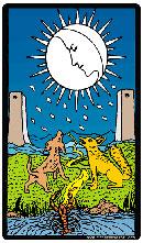 Significado de la carta La Luna en Tarot