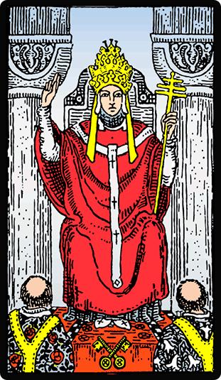 Significado de la carta del Tarot el Hierofante (El Papa)