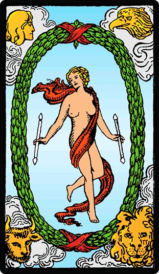 El Mundo carta del Tarot
