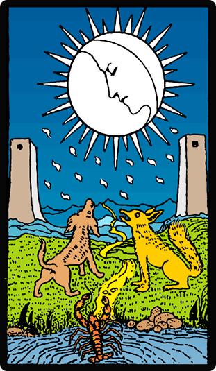 La Luna Arcano Mayor del Tarot