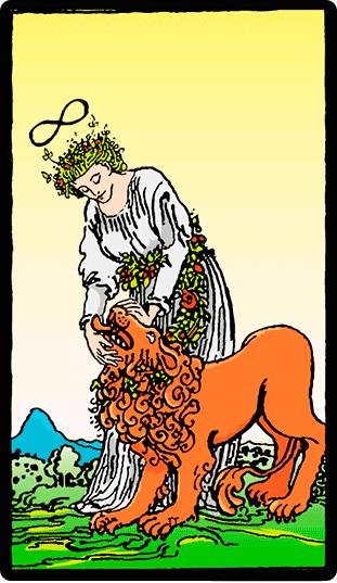 Significado de la carta Fuerza en Tarot