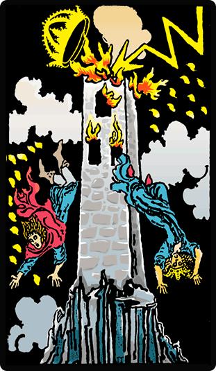Significado de la carta del Tarot La Torre