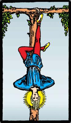 El Colgado, significado de la carta del tarot