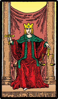 Significado carta Justicia en Tarot