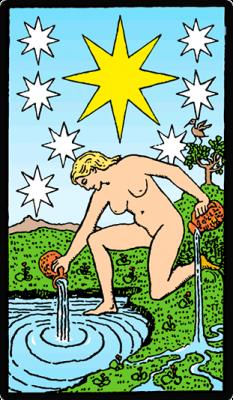 La estrella en las cartas del Tarot